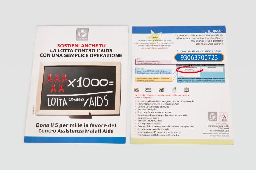 5 per mille - Flyer - Glocos Agenzia di Comunicazione Bari