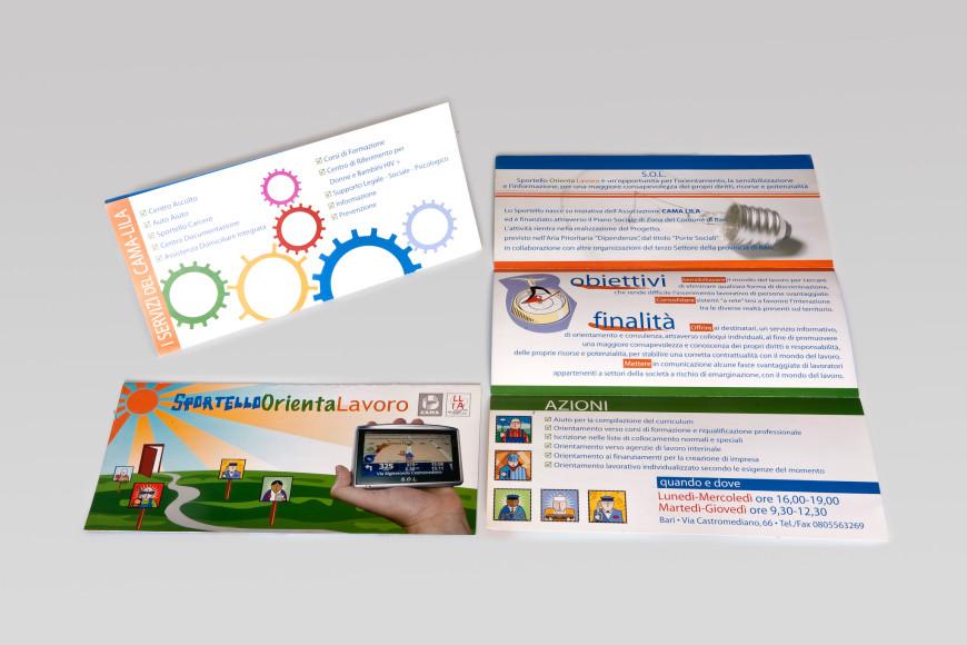 Sportello Orienta Lavoro - Flyer - Glocos Agenzia di Comunicazione Bari