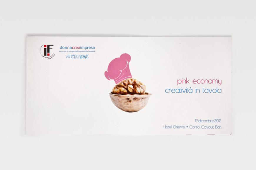 Pink economy. Creatività in tavola. - Campagna pubblicitaria - Glocos Agenzia di Comunicazione