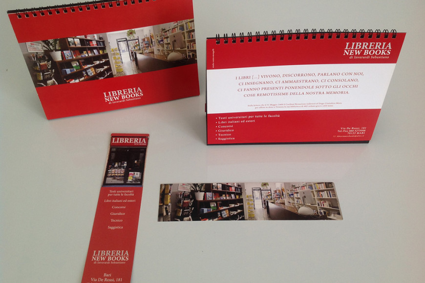 Libreria New Books - Corporate identity - Glocos grafica pubblicitaria