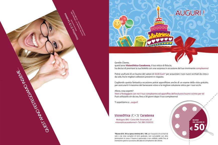 Vision Ottica Caradonna - mailing - Glocos Agenzia di Comunicazione