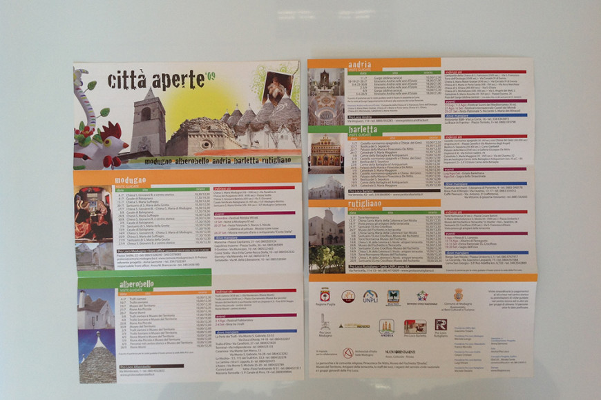Città Aperte 2009 - Flyer - Glocos Agenzia di Marketing Turistico