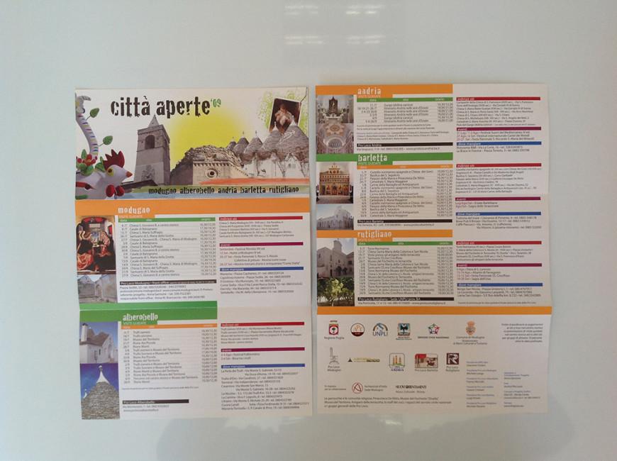 Città Aperte 2009 - Flyer - Glocos Agenzia di Marketing Turistico