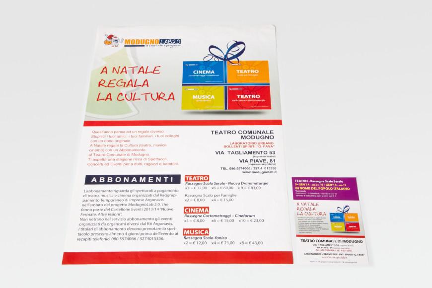 A Natale regala la Cultura - Flyer - Glocos Agenzia di Comunicazione